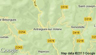 Plan de Antraigues-sur-Volane