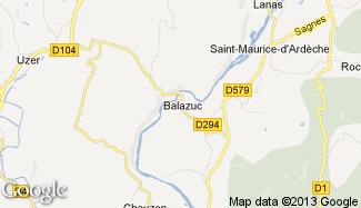 Plan de Balazuc