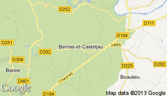 Plan de Berrias-et-Casteljau