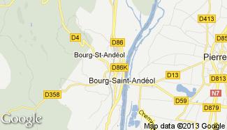 Plan de Bourg-Saint-Andéol