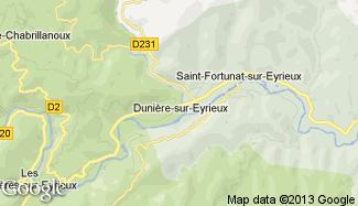 Plan de Dunière-sur-Eyrieux