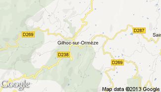 Plan de Gilhoc-sur-Ormèze