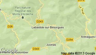 Plan de Labastide-sur-Bésorgues
