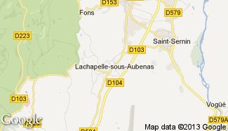 Plan de Lachapelle-sous-Aubenas