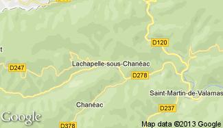 Plan de Lachapelle-sous-Chanéac