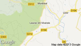 Plan de Laurac-en-Vivarais