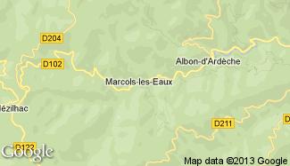 Plan de Marcols-les-Eaux