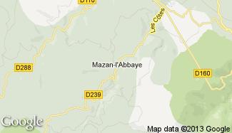 Plan de Mazan-l'Abbaye