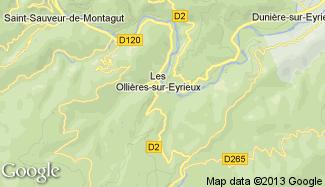 Plan de Les Ollières-sur-Eyrieux