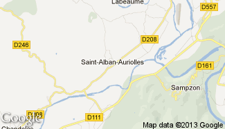 Plan de Saint-Alban-Auriolles