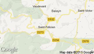 Plan de Saint-Félicien