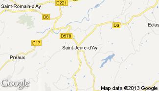 Plan de Saint-Jeure-d'Ay