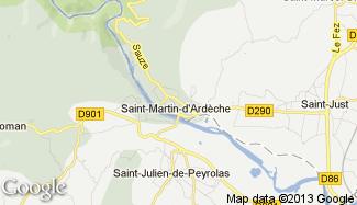 Plan de Saint-Martin-d'Ardèche