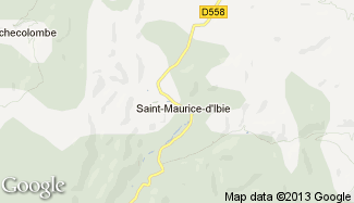 Plan de Saint-Maurice-d'Ibie