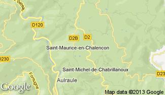 Plan de Saint-Maurice-en-Chalencon