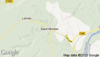 Plan de Saint-Montan