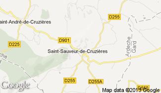 Plan de Saint-Sauveur-de-Cruzières