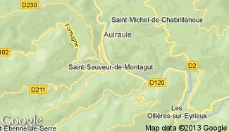 Plan de Saint-Sauveur-de-Montagut