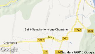 Plan de Saint-Symphorien-sous-Chomérac