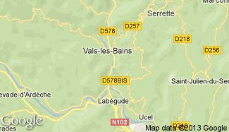 Plan de Vals-les-Bains