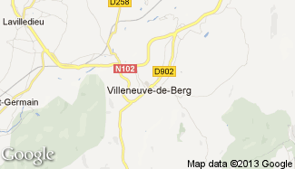 Plan de Villeneuve-de-Berg