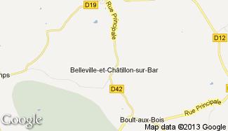 Plan de Belleville-et-Châtillon-sur-Bar