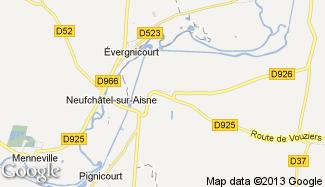 Plan de Brienne-sur-Aisne