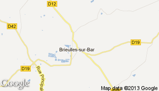 Plan de Brieulles-sur-Bar