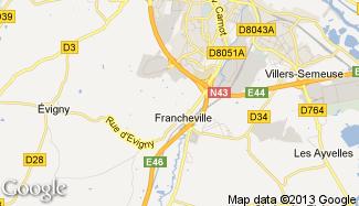 Plan de La Francheville