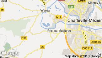 Plan de Prix-lès-Mézières