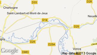 Plan de Rilly-sur-Aisne