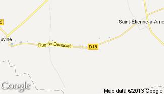 Plan de Saint-Pierre-à-Arnes