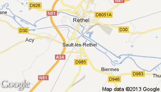 Plan de Sault-lès-Rethel