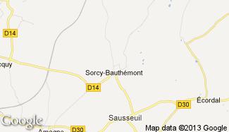 Plan de Sorcy-Bauthémont