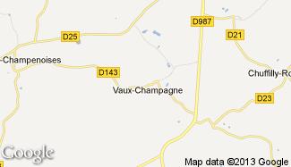 Plan de Vaux-Champagne