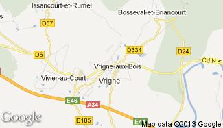 Plan de Vrigne-aux-Bois