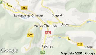 Plan de Ax-les-Thermes