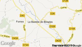 Plan de La Bastide-de-Besplas