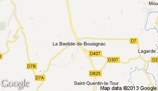 Plan de La Bastide-de-Bousignac