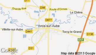 Plan de Arcis-sur-Aube