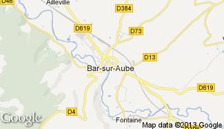 Plan de Bar-sur-Aube