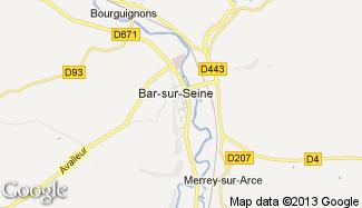 Plan de Bar-sur-Seine