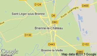 Plan de Brienne-le-Château