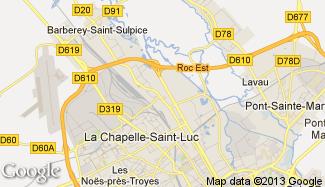 Plan de La Chapelle-Saint-Luc