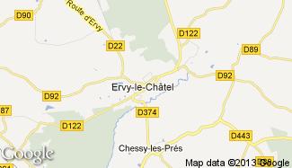 Plan de Ervy-le-Châtel