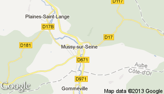 Plan de Mussy-sur-Seine