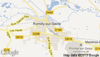 Plan de Romilly-sur-Seine