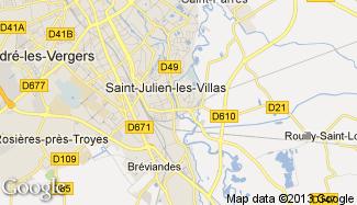 Plan de Saint-Julien-les-Villas
