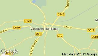 Plan de Vendeuvre-sur-Barse