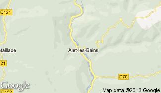 Plan de Alet-les-Bains
